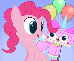 Pinkie and Unikitty by joeyh3