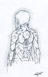 Reina's Armor- Back Sketch by Tekka-Croe