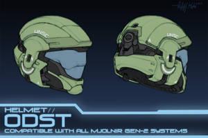 Halo 4: ODST Helmet by Tekka-Croe
