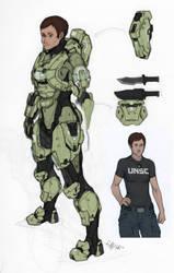 Spartan McCloud: Studies by Tekka-Croe