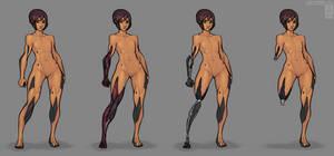 Reina- Cybernetics Construction by Tekka-Croe