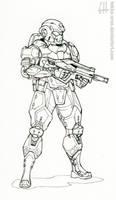 Inktober Day 1 (Karic Infantryman) by Tekka-Croe