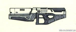 Inktober Day 17 (Beam Rifle) by Tekka-Croe