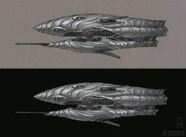 Inktober 2018 Day 25 (Reos Corvette) by Tekka-Croe