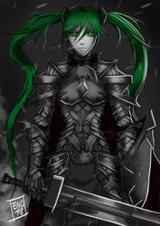 Miku the Knight of Vocaloid by Engraver78