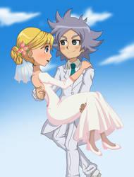 Inazuma eleven  Wedding - Fubuki x Ahiru by Ahiru-Matsuki