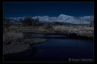 Owens River by Moonlight by narmansk8