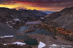 Bishop Pass Sunset by narmansk8