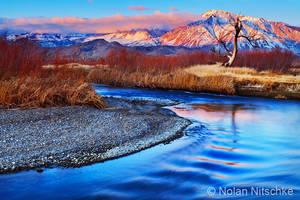 Owens River and Eastern Sierra Sunrise by narmansk8