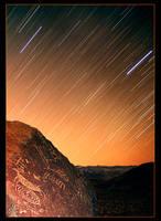 Paiute Petroglyph Star Trails by narmansk8