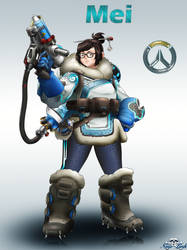[Overwatch]Mei by Niiii-Link