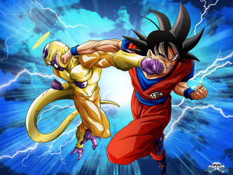 [DBS]Golden Freezer VS Songoku by Niiii-Link