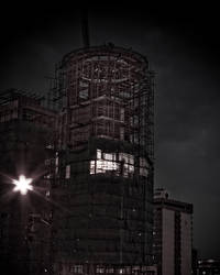 Construction at night by KissARebelXT