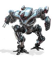 Terminator hunter killer mech by flyingdebris