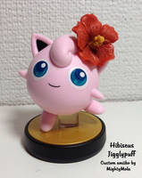 Hibiscus Jigglypuff (Custom amiibo) by mightymola