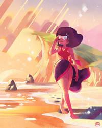 Garnet at the Beach by Kerriwon