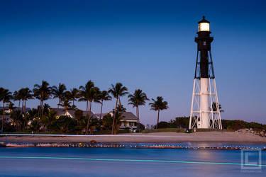 Hillsboro Inlet Light, Florida at Dusk by soak2179