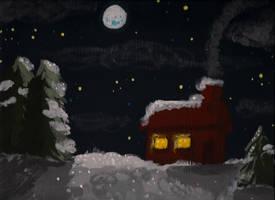 Moonlit Winter Night by BoogieBoyLock
