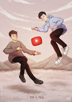Once there were these two guys called Dan and Phil by MichaelaKindlova