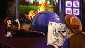 Phil draws Dan like a french girl by MichaelaKindlova