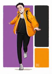 Yellow raincoat by MichaelaKindlova
