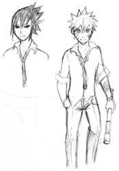 Sasuke Naruto sketch by KeybladerEva