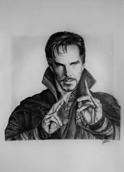 Doctor Strange (drawing) by JakubQaazAdamski