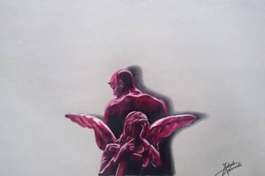 Daredevil drawing by JakubQaazAdamski
