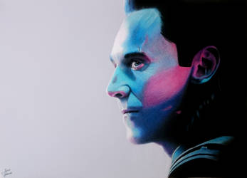 Tom Hiddleston : Loki - Drawing by JakubQaazAdamski
