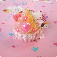 Strawberry Custard Bear by CatNapCaps
