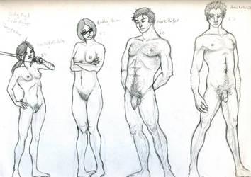 Not Another Zombie Novel ::Cast Line-up: by MonochromeCrystal