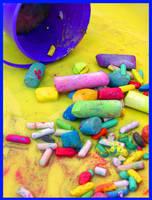 Dropped Chalk by PunkatHeart