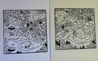 2 of 3- Water Dreaming by Alloronan