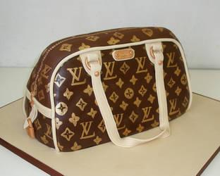 Louis Vuitton Hand bag cake by Dragonsanddaffodils