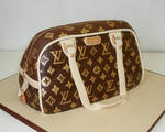 Louis Vuitton Hand bag cake by Dragonsanddaffodils