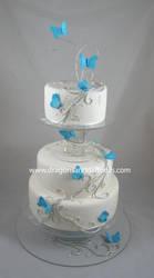 Butterflies wedding cake by Dragonsanddaffodils