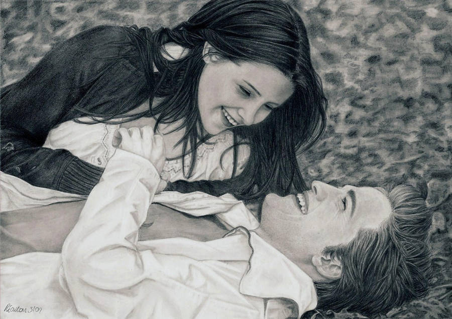 Twilight Edward and Bella by Dragonsanddaffodils