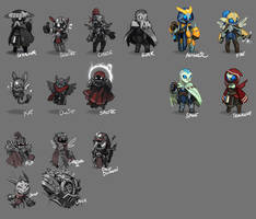 Spiral Knights: Unused NPC Roughs by Malakym