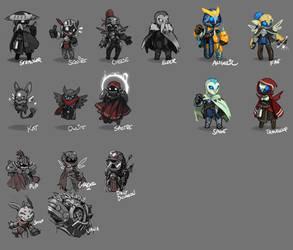Spiral Knights: Unused NPC Roughs by Malakym