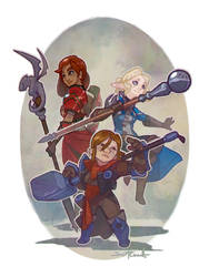 Dragon Age: Inq - Dapper Inquisitors by Malakym