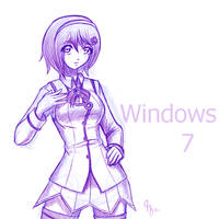 Sketch: Windows 7 OS-tan by Claymore32
