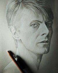 David Bowie - pencil portrait by EstebanCandia