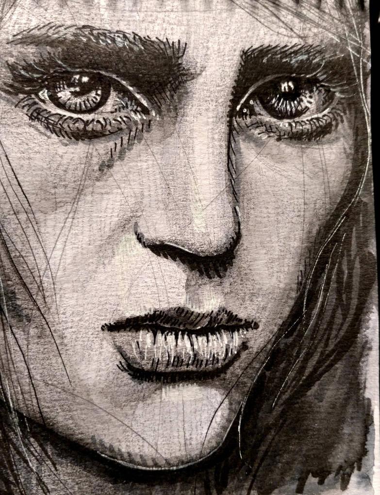 Portrait of a woman by EstebanCandia