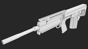 Unfinished Bullpup Rifle by Jordach