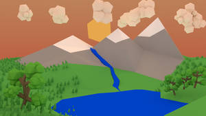Sunset Mountains by Jordach