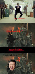 Sauron hates gangnam style by EvilWarChief666