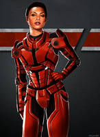 Commander Shepard by Vylla