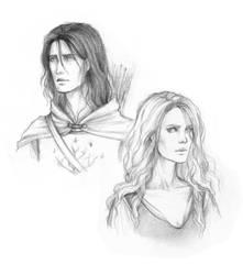 Captain and Shieldmaiden by Achen089