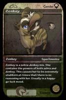 dA Trading cards- Zonkey by zonkey