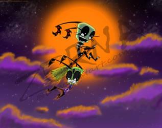 Night Ride on Halloween by Zerna